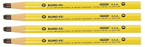 Wood Filler Pencil (Bulk Buy: Lot of 4 Minwax 11008 Number #8 Blend-Fil Pencil - Driftwood)