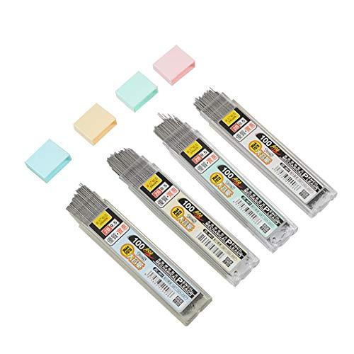 Plastic Refill Pencil - Wodwad 100Pcs/Box Graphite Lead 2B Mechanical Pencil Refill Plastic Automatic Pencil Lead (0.5mm)