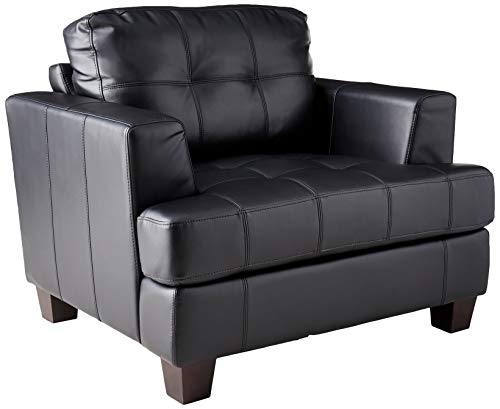 (Samuel Cushion Back Chair Black)