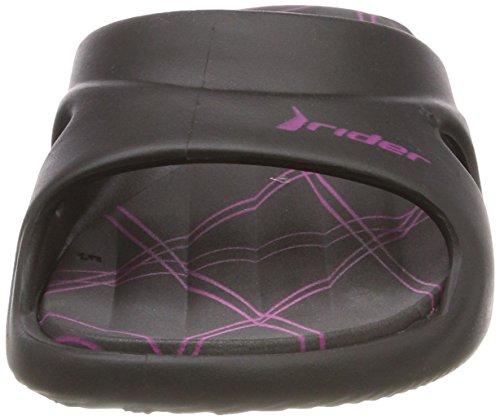 Punta Fem Sandalias Mujer Abierta Feet Black Slide Rider Multicolor 8635 Rider VII con axBTw0I