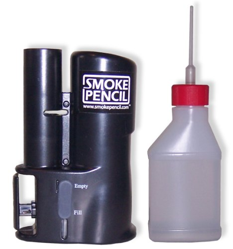 Smoke Pencil Air Leak Detection Hazer – Handheld Smoke Stick Draft Detector Machine with Fog Juice for Detecting Leaks, Puffer Tool for HVAC Technicians Energy Raters Auto Mechanics by Smoke Pencil