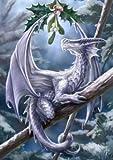 Neige Dragon–Anne Stokes Yule/carte de vœux de Noël