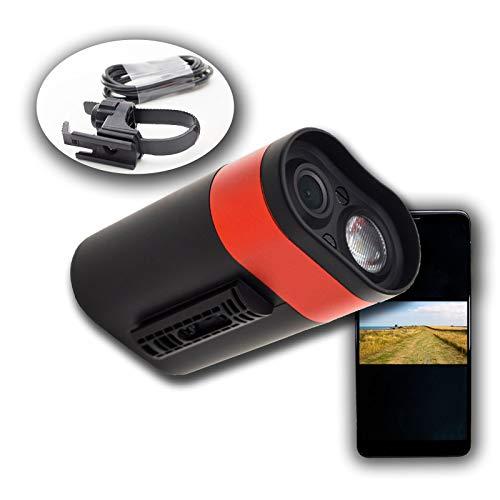 PA Cycling Bicycle Dash Camera Video Recorder Full-HD 1920x1080 + Bike front LED Light