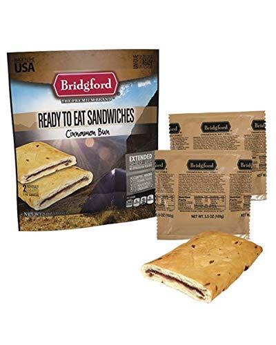 Cinnamon Bun MRE - Breakfast Snack Survival Food Ready to Eat Meals - 3 Pack