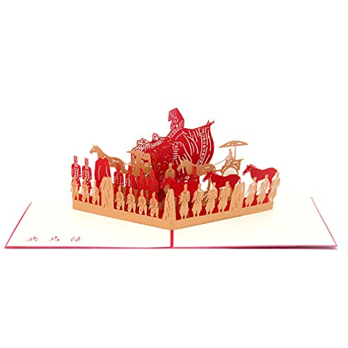 Dolland 3D Terracotta Card op Up Greeting Cards Business Travel Commemorative Postcard Tourism Gift ()