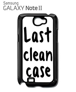 Last Clean Case Mobile Cell Phone Case Samsung Note 2 White by supermalls