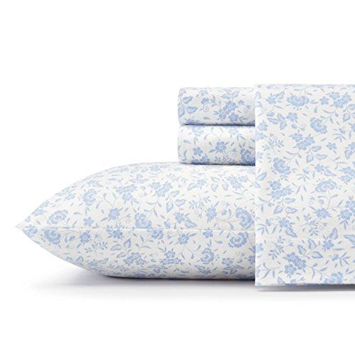 Laura Ashley Cotton Sheets - Laura Ashley Helena Sheet Set, Full, Blue