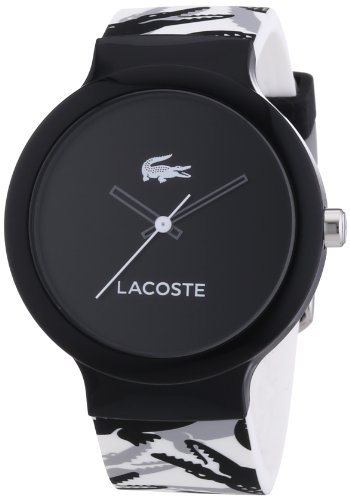 Lacoste Goa Black Dial White Silicone Rubber Unisex Watch 2020059