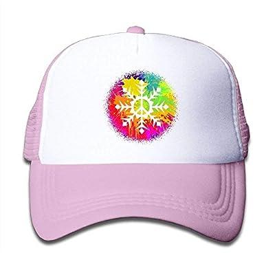 Boys&Girls Graffiti Paint Snowflake Peace Mesh Hat Snapback Baseball Caps Adjustable Trucker Caps