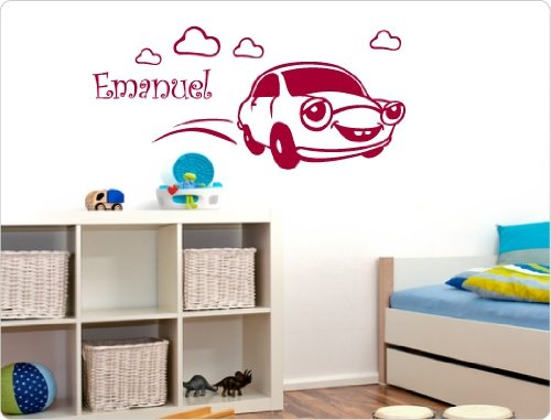 dekodino Wandtattoo Kinder - Auto individuell