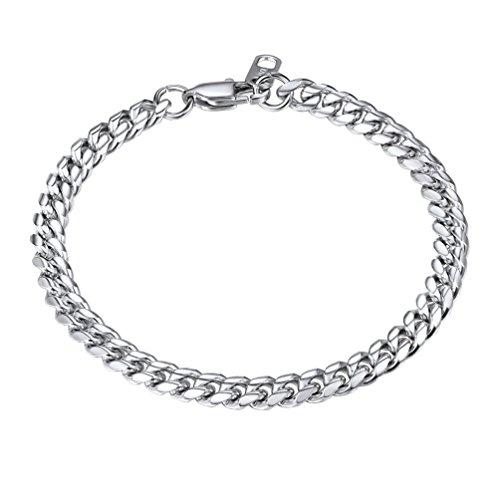 Stainless Steel Chain Bracelet,Cuban Link Bracelet,Pulseira Masculina,Men Jewelry,8.3'',PSH2906G-21