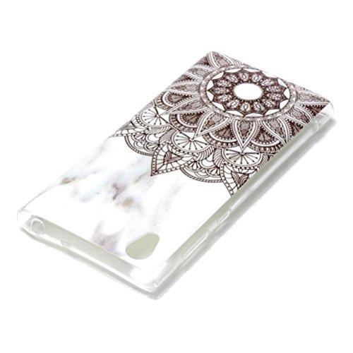 Sony Xperia L1, Funda, Diseño de Mármol TPU Silicona Suave Ultra Delgada Shock-absorción Anti-arañazos Protección Cubrir Flexible Carcasa de Telefono Case: ...