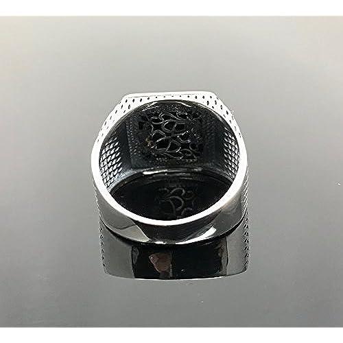 KAR 925K Stamped Sterling Silver Black Onyx Men's Ring K4D