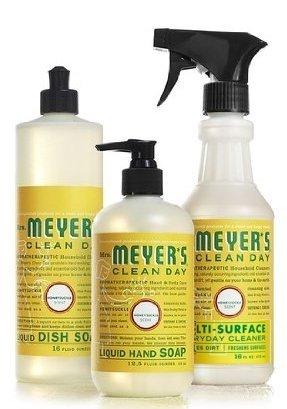 Mrs. Meyers Clean Day Honeysuckle Kitchen Basics Set (Bundle)