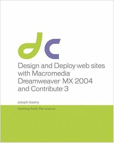 Leer un libro en línea sin descargar Design and Deploy Websites with Macromedia Dreamweaver MX 2004 and Contribute 3: Training from the Source en español PDF
