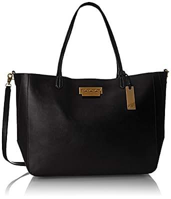 ZAC Zac Posen Eartha Everyday Signature Shopper Tote Bag, Black, One Size