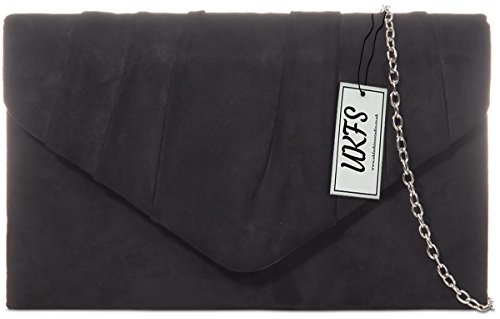 Designer sac main UKFS Noir Velvet Envelope Autumn Soirée à Ladies embrayage FwPTrUnxFq