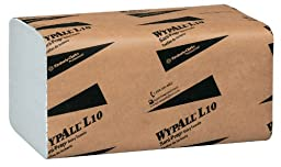 Wypall L10 Disposable Wipers (01770), Dairy Wipers, 1-PLY, Banded, White, 12 Packs / Case, 200 Wipes / Pack, 2,400 Sheets / Case