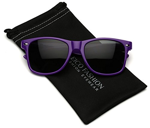 Iconic Horn Rimmed Retro Classic - Cheap Purple Sunglasses