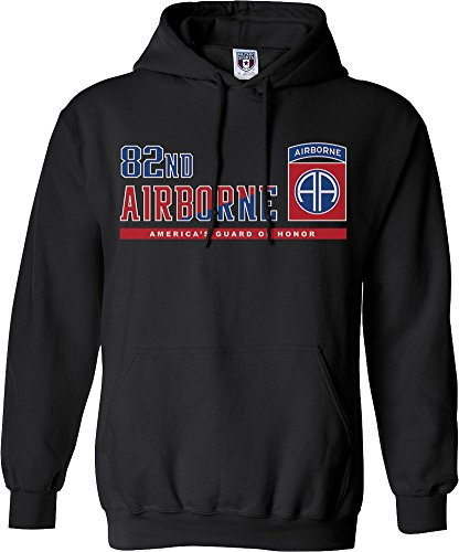 - Military Shirts U.S. Army 82nd Airborne Division Varsity Hooded Sweatshirt
