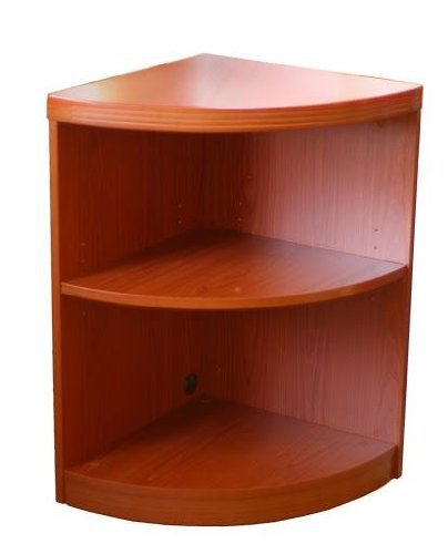 - 2 Shelf Quarter Round (1 fixed Shelf) Cherry Laminate