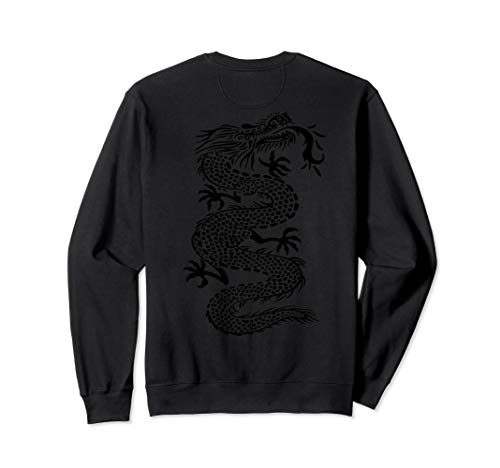 - ROCKSTAR Black Kung Fu Dragon - Martial Arts Tattoo Style Sweatshirt