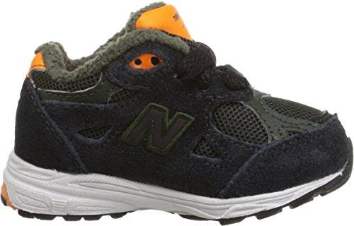 New Balance KJ990I Running Shoe (Infant/Little Kid) Green/ Orange