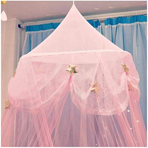 dormitorio mosquitera para ni/ñas y ni/ños jugando a juegos de casa Cortina de cama con dosel de princesa Hixonair rosa