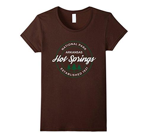 Womens Hot Springs National Park T Shirt Arkansas Emblem Xl Brown