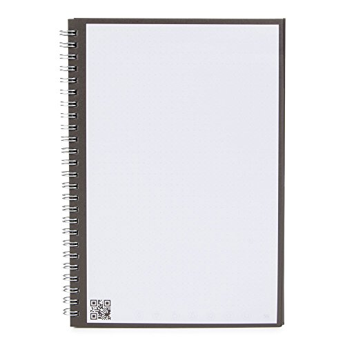 Rocketbook One Wirebound Smart Notebook, Executive A5 Size, 140 Page Dotted/Squared Paper - Use App To Upload Notes To Cloud - Single Use - Journal/Notepad/Diary by Rocketbook (Image #1)