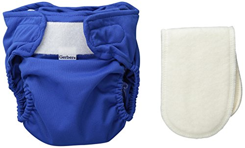 Gerber All-in-One Reusable Diaper with Insert Starter Set, Blue, (Leg Starter Set)