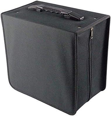 Exquisito ligero de mano duradero CD DVD Soporte de Bolsa de Polvo de discos Caja de CD Caja de Bolsa de Polvo de DVD Estuche Ligero con asa Ideal for viajes en
