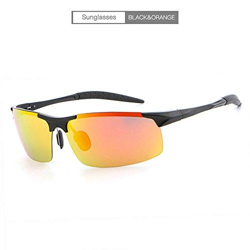 sol la sol de de la sol aluminio libre los magnesio de conductor del del hombres de del Gafas aire espejo de al polarizador gafas negro marco naranja del RFVBNM le ULTRAVIOLETA Lente gafas de marco personalidad anti manera de twE0pxRqnA