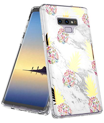 MOREFINE Samsung Galaxy Note 9 Case,Shiny Marble Pineapple Design,Clear Bumper Protection Hybrid Armor Shockproof TPU Soft Rubber Silicone Cover Phone Cute Girls Case for Galaxy Note 9 (2018) (Gold)