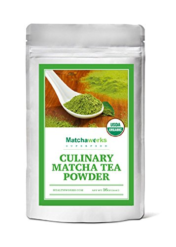 Matchaworks Matcha Green Tea Powder Organic, Culinary Grade, 16oz