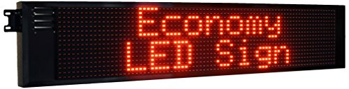 Outdoor Signs Eled108 Single Sided Led Electronic Message Display  15 75  Height X 73 75  Length X 5 75  Width