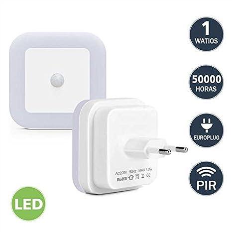 Lámparas de Sensor Movimiento Led Luz Nocturna para Quitamiedos con ...