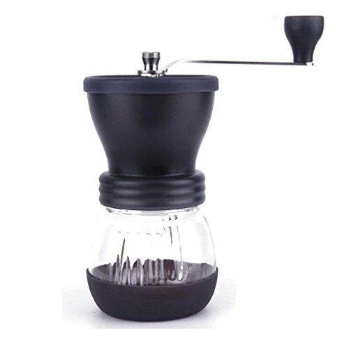 Balakie Manual Coffee Grinder - Ceramic Coffee Mill - High Quality Burr Coffee Maker - Roasted Coffee Bean Grinder,Enjoying Your Espresso time (Black)