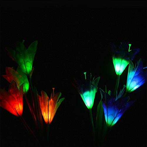 Créative Forme Élégant De Lys Artificiel Lampe Terre Lanlan En BQdCsrthx