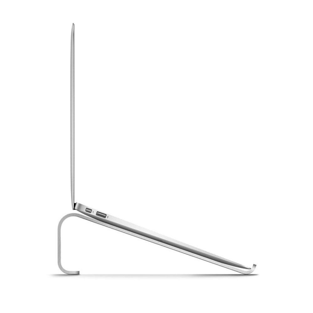 LDFN Estante para Laptop Aleación De De Aleación Aluminio Metal Radiador De Base para El Soporte De Enfriamiento Almohadilla Térmica Mesa Portátil Estante De Lectura,Gris-26  18.5  8cm c82a6b