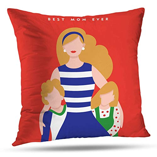 - Kayel Interior Decoration Pillowcase Happy Mothers Day Family Mom with Kids and Holiday Love for Bedroom Sofa Iiving Room Cushion Pillowcase Home Decoration 18x18 Inch
