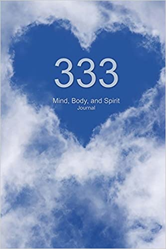 333 Mind Body And Spirit Journal Angel Number Sky And Heart Cloud