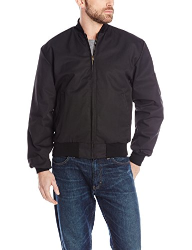 Red Kap Men's Solid Team Jacket, Black, Large