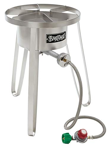 Bayou Classic SS50 Stainless Steel High Pressure Cooker, Tall ()