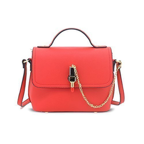 Faux Messenger Fashion Leather Ladies F10 Satchel Red Crossbody Handbags Womens Shoulder Fqg5S