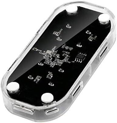 RONSHIN Transparent USB HUB 4-Port Splitter USB3.0 Adapter Supports External Micro USB Power for Desktop Laptop