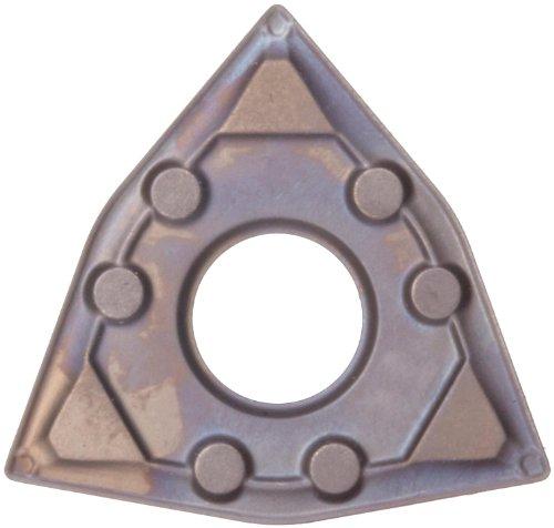 Sandvik Coromant T-Max P Wiper Cermet Turning Insert, WNMG, Trigon, WF Chipbreaker, CT5015 Grade, Uncoated, WNMG 431-WF, 1/2