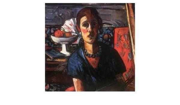 Hecho a mano de pintura al óleo de pintura GFM reproducciones de mujer en bata azul, pintura al óleo de Margit Graber, azul, 72 By 96 inches: Amazon.es: ...