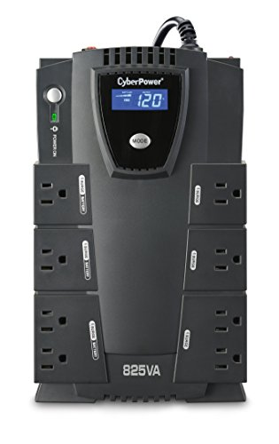 CyberPower CP825LCD Intelligent LCD UPS System, 825VA/450W, 8 Outlets, (450w Pc)