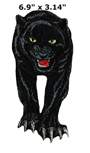 Black Panther Leopard Patch Wakanda Marvel Comics Superhero Theme logo Series 2018 Movies Embroidered Iron / Sew on Badge DIY Appliques by Athena Brands by Athena Brands